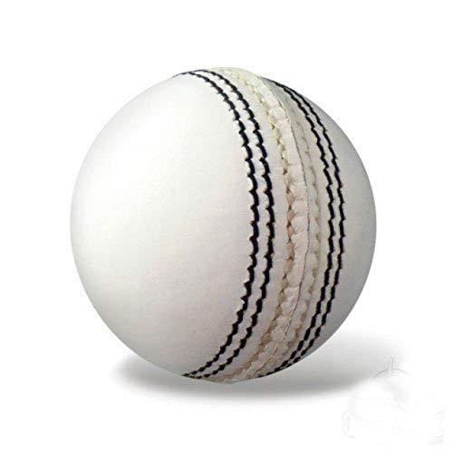 Raisco LTHRBALL1 Leather Sports Cricket Ball  White