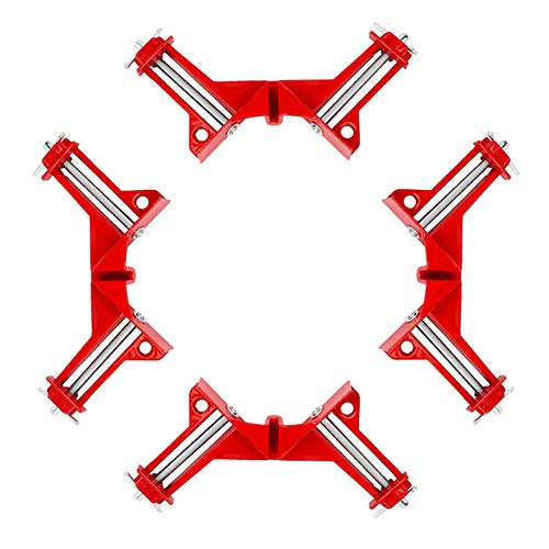 Clamp Fixed Corner - Beduan 90 Degree Right Angle Clip Fixed Corner Clamp Multifunction Hand Tool for DIY Fishtank Woodworking Picture Frame (Pack of 4)