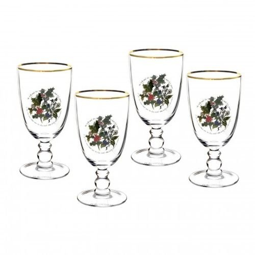 Holly Goblets - Portmeirion The Holly & The Ivy S/4 Goblets