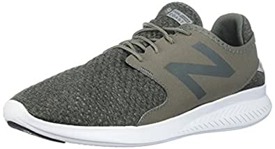 New Balance Men's Coast v3 Running Shoe, Green/Black, 7 D US