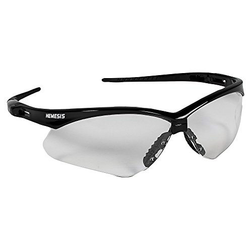Jackson Safety V30 Nemesis Safety Glasses (25679), Clear Anti-Fog Lens with Black Frame,(Pack of - Vision Loss Sunglasses Can Cause