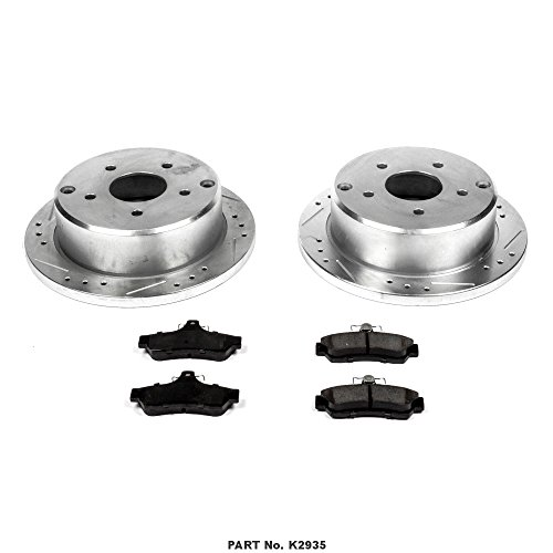 Power Stop K5360 Front /& Rear Brake Kit with Drilled//Slotted Brake Rotors and Z23 Evolution Ceramic Brake Pads