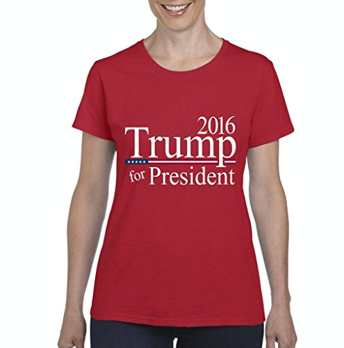 Xekia Donald Trump For President 2016 Republican Tea Party Birthday Gifts Fashion People Couples Gifts Best Friend Gifts Women's T-shirt Tee Clothes Medium Red