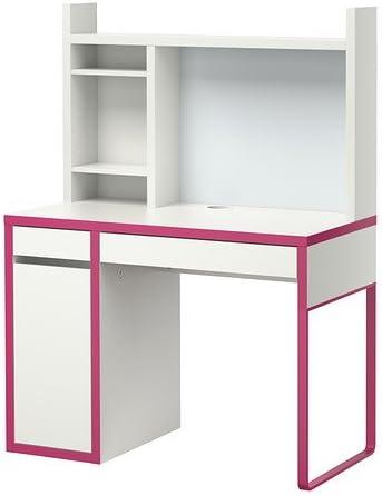 Ikea MICKE - Estación de Trabajo, Blanco, Rosa - 105x50 cm: Amazon ...