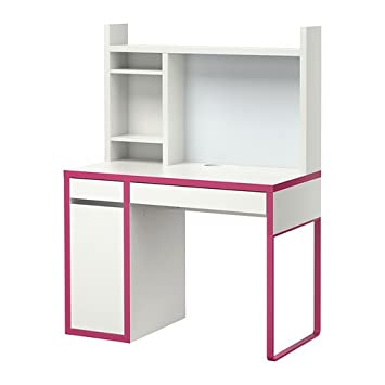 Ikea Micke Bureau.Ikea Micke Bureau Blanc Rose 105 X 50 Cm Amazon Fr Cuisine