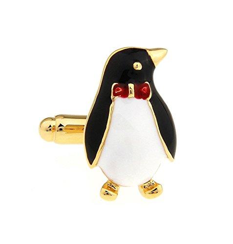 Kentop Boutons de Manchette Chemise Hommes Femmes Shirts Boutons de Manchette Forme de Pingouin dor/é Bouton Cadeau Bijoux pour Affaires Mariage 2PCS