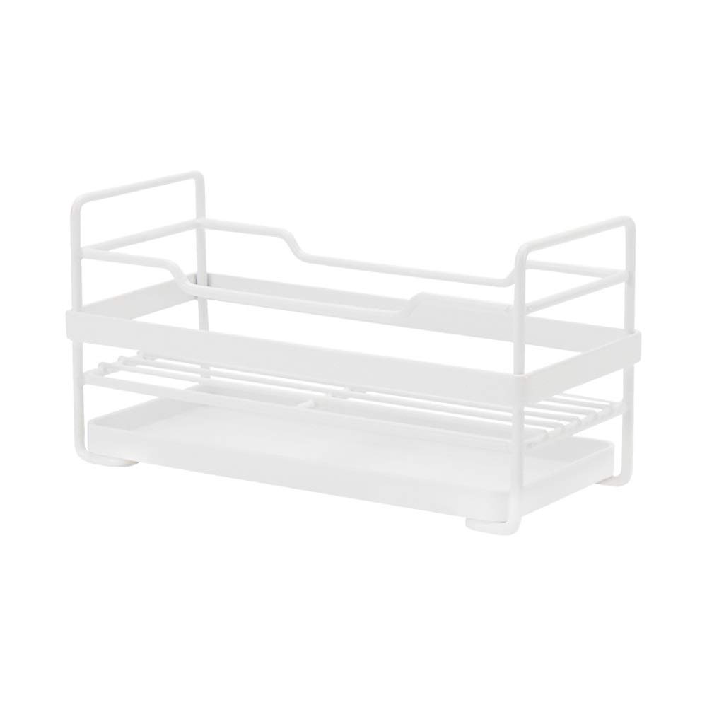 Kitchen Small storage Shelf - Dishwasher Sink Drainer - Washing and Washing Fruit Shelf Sink Tray, Telescopic, Stainless Steel