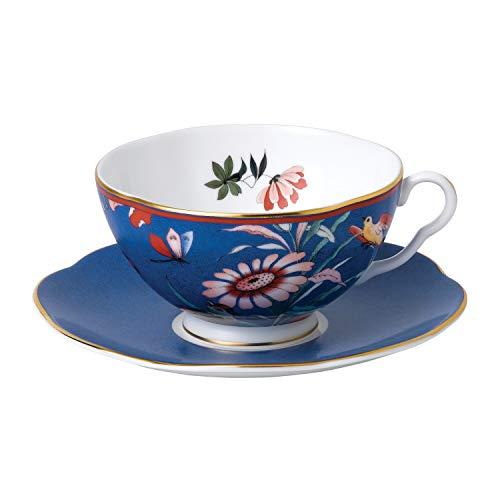Wedgwood Paeonia Blush Teacup & Saucer Set Blue