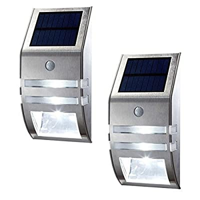 OKSS Outdoor Motion Sensor Solar Light, Wireless Bright Solar Powered Wall Light, Street Light, Outdoor Security Light, Solar Light for Patio Deck Yard Garden Home Driveway Stairs, Etc.