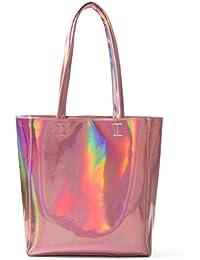 Choies Women's Hologram PU Shopper