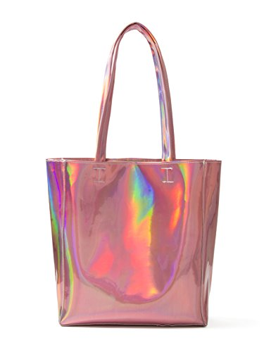 Choies Womens Hologram PU Shopper