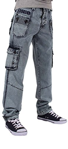 Peviani - Jeans - Homme Bleu Acid Wash Blue