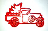VINTAGE CLASSIC ANTIQUE PICKUP TRUCK WITH CHRISTMAS TREE SPECIAL OCCASION COOKIE CUTTER BAKING TOOL 3D PRINTED MADE IN USA PR2237