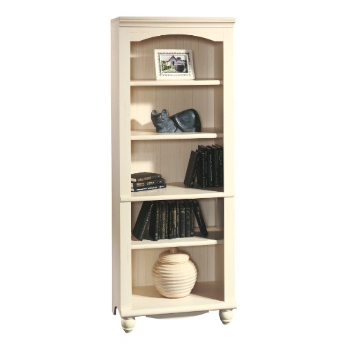 Sauder Harbor View Library, Antiqued White by Sauder