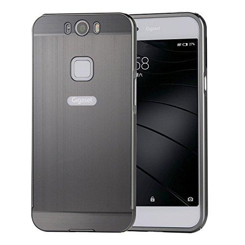 TopAce® Premium Handy Tasche Phone Holster Hard Case Cover Hülle für Gigaset ME Smartphone (5 Zoll (12,7 cm) Rahmen Bumper Frame Etui Schutzhülle Schutz Hartschale (Schwarz)