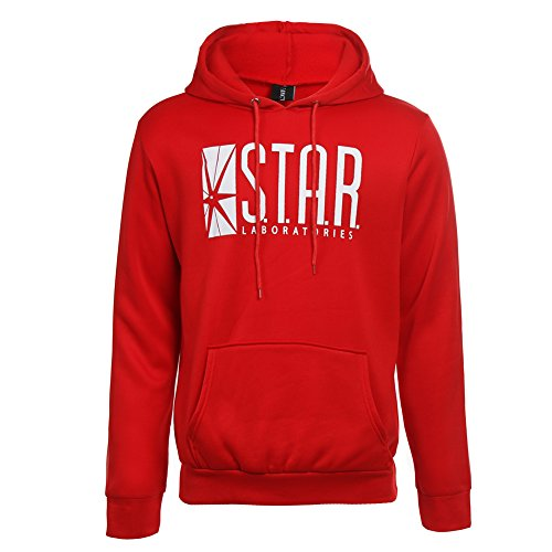 Detroital Star Laboratories Hoodie Sweatshirt S.T.A.R Star Labs Hooded Pullover (M, Red) ()