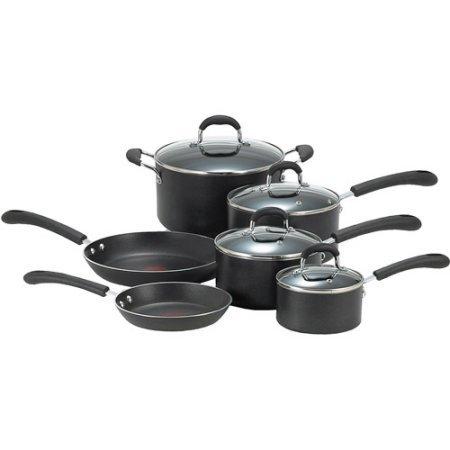 T-Fal Professional Total Non-Stick 10-Piece Cookware Set, Black