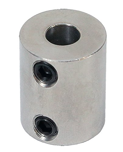 3/8 inch to 6mm Stainless Steel Set Screw Shaft Coupler ServoCity 625202