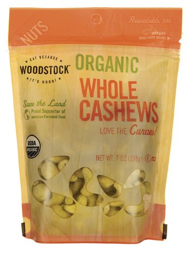 Organic Whole Cashews 7 oz Pkg