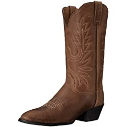 AriatHrtg Western R Toe - Heritage Western R Toe Para mujer, Marrón, 6 B(M) US