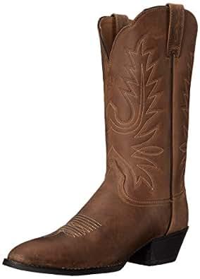 Ariat Women's Heritage Western R Toe Western Cowboy Boot, Distressed Brown, 5.5 B US