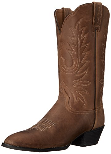 Ariat Women's Heritage Western R Toe Western Cowboy Boot, Distressed Brown, 6.5 B US