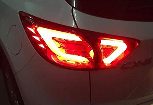 GOWE Car Styling for Mazda CX-5 2011-2015 Tail Lights LED Tail Light Rear Lamp LED DRL+Brake+Park+Signal Stop Lamp Color Temperature:8000K;Wattage:35K 1