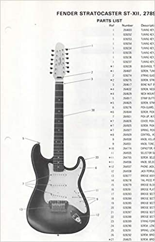 Swell Parts List Diagram For Fender Stratocaster St Xii 12 String Wiring Digital Resources Timewpwclawcorpcom