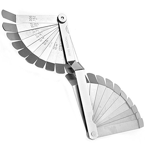 26 Blade Laser Reading Combination Feeler Offset Gauge Dual Sided Gage ()