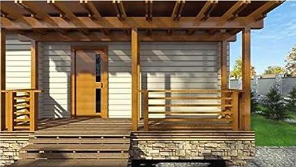 Kit de casa de tronco laminado ECOHOUSEMART | Kit de cabina de construcción de bricolaje ecológico Prefab #LH_B-120 | 1 294 pies cuadrados: Amazon.es: Bricolaje y herramientas