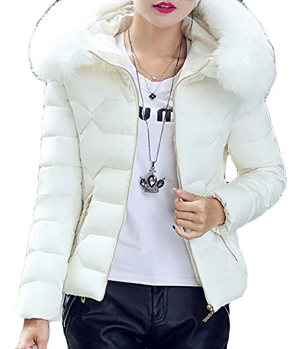White Faux Fur Jacket - 9