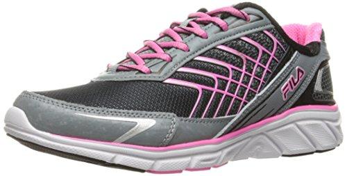 Fila Women's Memory Core Callibration 3 Running Shoe, Black/Monument/Sugarplum, 9 M US