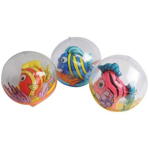 Cute Set of Three (3) Fish Ball Inflates ~ Party Favor, Decor, Inflatable Pool Toy