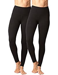 High Waist Cotton Power Flex Leggings - Tummy Control