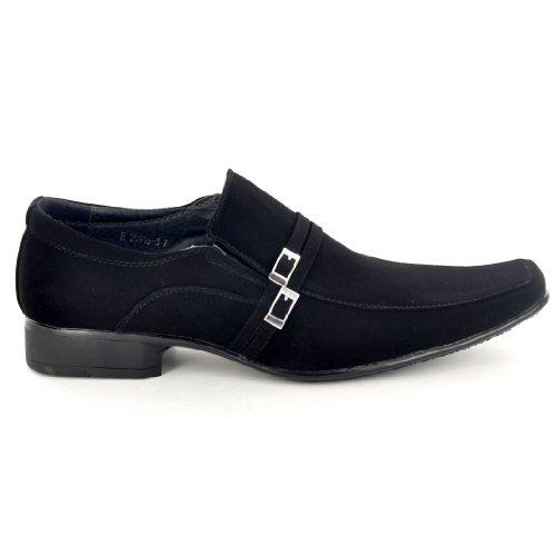 Para hombre Negro italiana de ante sintético con Casual zapatos de vestir