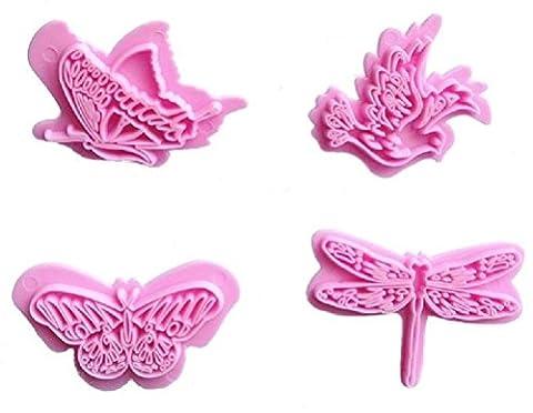 Garden designs 4 piece press set for Fondant Gum Paste Chocolate Crafts NEW - Cameo Garden