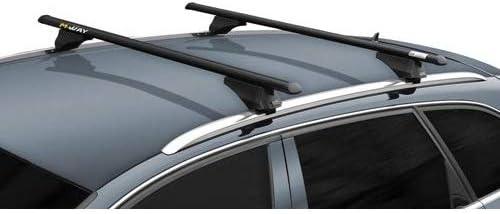 COMPATIBILE Con Volvo V40 Cross Country 2015 Barres DE Toit pour Voiture 135 CM Barres D/ÉJ/À avec Rails Non ATTACH/ÉS COMPL/ÈTEMENT AU Toit Porte-Bagages en Aluminium HOMOLOGU/É