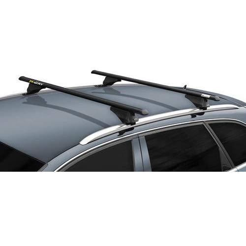 para Kia carens 2017/Barras portaequipajes 135/cm para Techo Coche YA con railings de Serie de Aluminio universales