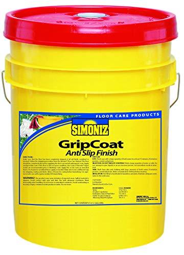 Simoniz G0001005B Grip Coat Floor Finish, 5 gal, 11