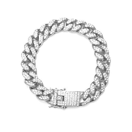 Jackallo Miami Cuban Link Bracelet Gold Plated Hip Hop Iced Out Diamond Miami Cuban Link Chain Bracelet for Men and Women