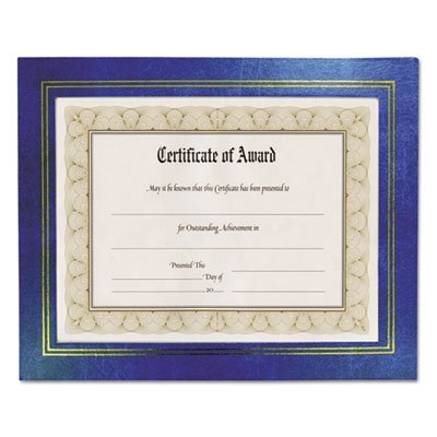 Leatherette Document Frame, 8-1/2 x 11, Blue, Pack of Two, Sold as 1 Package