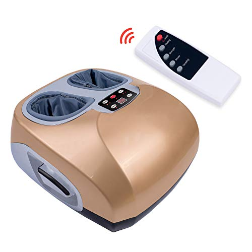Foot Massager Machine with Switchable Heat Function, Delivers Deep-Kneading Massage Relief for Tired Muscles and Plantar Fasciitis with Remote Control