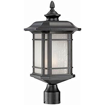 Acclaim 8117BK Somerset Collection 1 Light Post Mount Outdoor Light Fixture,  Matte Black