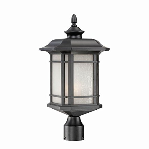 Acclaim 8117BK Somerset Collection 1-Light Post Mount Outdoor Light Fixture, Matte Black (Post Light Mount Mission)