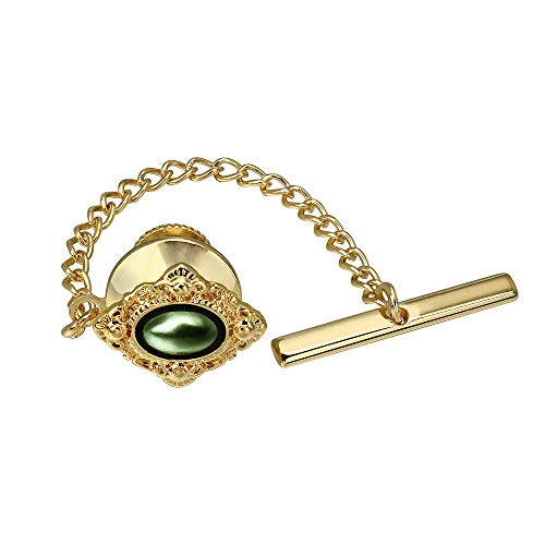 HAWSON Classical Tie Tack Clips Pins for Men Wedding Business Accessories - Faceted Pearl in Rich ()