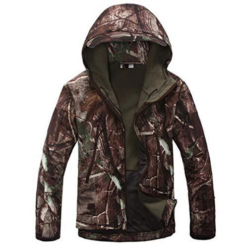 Los Manera La Hombres Capa Escudo Camuflaje Impresa Camo Espesa Militar Al Libre Abrigo Green Aire De wxTq84A