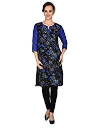 Maple Clothing Georgette Womens Printed India Long Kurti Tunic Blouse Top