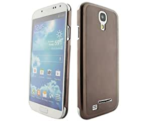 BONAMART ® Luxury Brushed Metal Aluminum Hard Back Bumper Case Cover For Samsung Galaxy S IV S4 i9500 Coffee