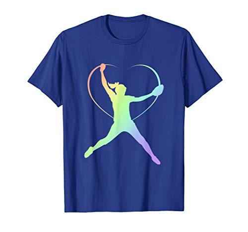 - Soft Rainbow Softball Gifts For Teen Girls Pitcher T-Shirt