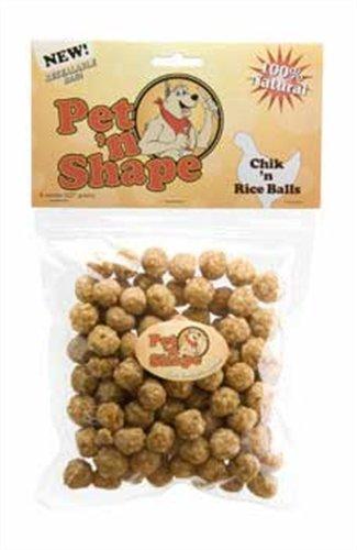 Pet 'n Shape Chik 'n Rice Balls Dog Treats, 8 Ounce, My Pet Supplies